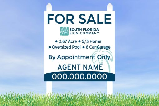 4x4 Commercial Sign